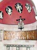 La abadía de Jerusalén Dormition el altar de la cripta indica Costa de Marfil 201 Imagen de archivo