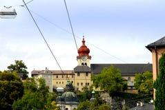 La abadía de Nonnberg utilizó en la película el sonido de la música Fotos de archivo