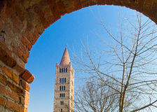 La abadía de Pomposa de Codigoro Imagen de archivo libre de regalías