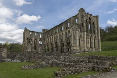 La abadía de Rievaulx, North Yorkshire amarra, North Yorkshire, Inglaterra Imagen de archivo