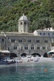 La abadía de San Fruttuoso de FAI Fotos de archivo libres de regalías