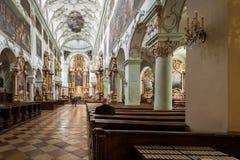 La abadía de San Pedro que visita en Salzburg Fotografía de archivo