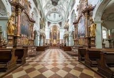 La abadía de San Pedro que visita en Salzburg Imagen de archivo libre de regalías