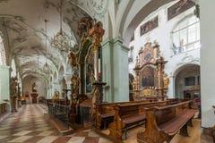 La abadía de San Pedro que visita en Salzburg Foto de archivo libre de regalías