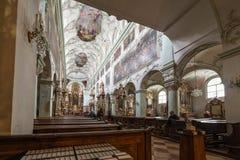 La abadía de San Pedro que visita en Salzburg Fotografía de archivo libre de regalías