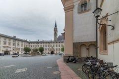 La abadía de San Pedro que visita en Salzburg Imagenes de archivo