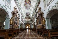 La abadía de San Pedro que visita en Salzburg Fotos de archivo