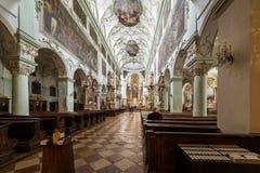 La abadía de San Pedro que visita en Salzburg Fotos de archivo libres de regalías