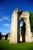 La abadía de St Mary en la ciudad de York, Inglaterra, Reino Unido Imagen de archivo libre de regalías