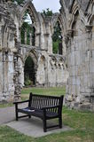 La abadía de St Mary, York, Reino Unido Imagen de archivo