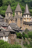 La abadía de StFoy en Conques Imágenes de archivo libres de regalías