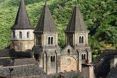 La abadía de StFoy en Conques Fotografía de archivo