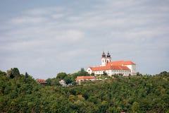 La abadía de Tihany en el lago Balatón en Hungría Imagen de archivo