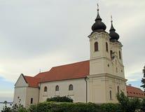 La abadía de Tihany en el lago Balatón, Hungría Foto de archivo libre de regalías
