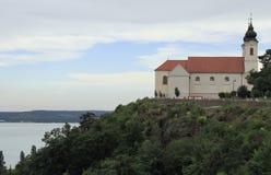La abadía de Tihany en el lago Balatón, Hungría Foto de archivo