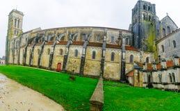 La abadía de Vezelay Foto de archivo