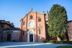 La abadía de Viboldone Fotografía de archivo
