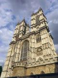 La abadía de Westminster, Londres, del oeste hace frente, ángulo oblicuo Imagen de archivo