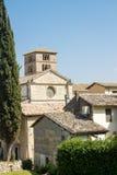 La abadía del bededictine de Farfa imagen de archivo