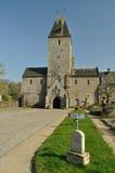 La abadía en el l'Abbaye de Lonlay Imágenes de archivo libres de regalías