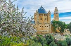La abadía entre el verdor Imágenes de archivo libres de regalías