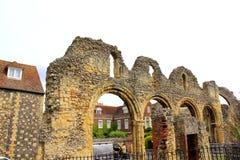 La abadía medieval arruina la catedral Reino Unido de Cantorbery Imagenes de archivo
