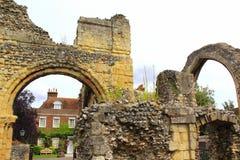 La abadía medieval arruina la catedral Reino Unido de Cantorbery Imágenes de archivo libres de regalías