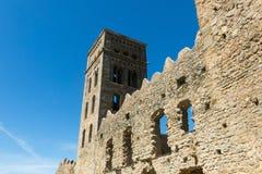 La abadía Románica de Sant Pere de Rodes, en el municipio Imágenes de archivo libres de regalías