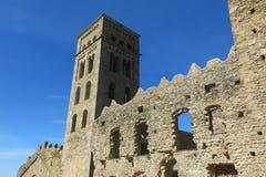 La abadía Románica de Sant Pere de Rodes, en el municipio Imagenes de archivo