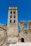 La abadía Románica de Sant Pere de Rodes, en el municipio Imagen de archivo libre de regalías