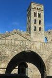 La abadía Románica de Sant Pere de Rodes, en el municipio Fotografía de archivo libre de regalías