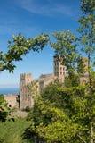 La abadía Románica de Sant Pere de Rodes Girona, Cataluña Imagenes de archivo
