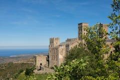 La abadía Románica de Sant Pere de Rodes Girona, Cataluña Foto de archivo