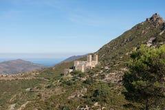La abadía Románica de Sant Pere de Rodes Girona, Cataluña Fotos de archivo