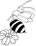 La abeja b/w stock de ilustración