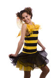 La abeja viste a la mujer. Fotografía de archivo libre de regalías