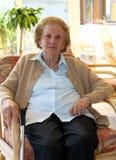 La abuelita se está relajando Foto de archivo libre de regalías