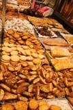 La abundancia de diversos productos de la pasta del strannyh Fotografía de archivo