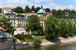 La academia de Straka en Praga (República Checa Imagen de archivo