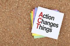 La acción cambia cosas Foto de archivo