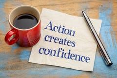 La acción creó confianza Foto de archivo libre de regalías