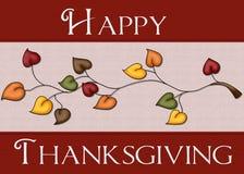 La acción de gracias feliz deja la tarjeta Fotos de archivo libres de regalías