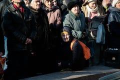 La acción de la protesta en Kyiv central Imágenes de archivo libres de regalías