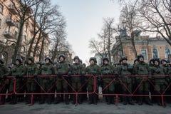 La acción de la protesta en Kyiv central Imagen de archivo libre de regalías