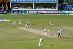 La acción del segundo test match Australia versifica Sri Lanka en Galle en Sri Lanka Foto de archivo