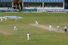 La acción del segundo test match Australia versifica Sri Lanka en Galle en Sri Lanka Fotografía de archivo libre de regalías