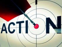 La acción muestra la motivación activa o dinámico Fotos de archivo