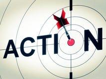 La acción muestra la motivación activa o dinámico Foto de archivo libre de regalías