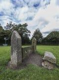 La acción pública en Rivington se pone verde con el cielo como fondo Imagenes de archivo