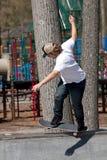 Skater en una rampa Fotografía de archivo libre de regalías